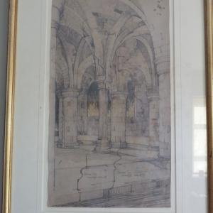 Architectural drawing Vaulted room