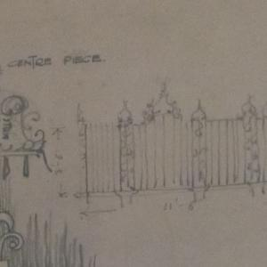St Thomas Church Salisbury Centre Piece Tomb Rail Architectural drawing