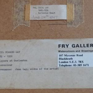 Trippers at Gorleston Fry Gallery Label