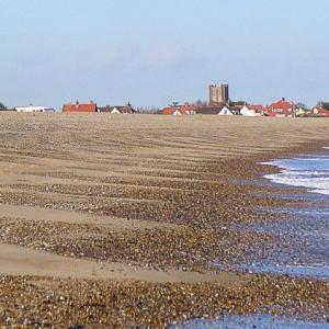 Thorpeness from Aldeburgh beach RSearle