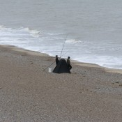 Fishing on Sizewell Beach