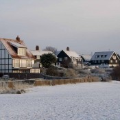 Thorpeness Beach in Snow