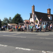 1. Tour of Britain 2012 - at the Parrot & Punchbowl Inn
