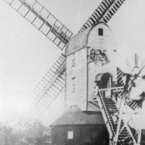 The corn mill in Mill Hill, before it was moved to Thorpeness in 1923