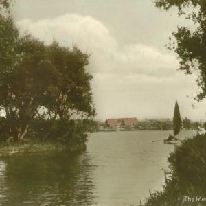 024 Circa 1930 The Meare hand tinted postcard