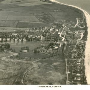 286 Thorpeness aerial picture postcard