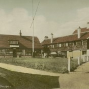 Ye Shoppes, c1930, hand tinted postcard
