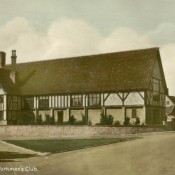 Workmen's Club, c1930, hand tinted postcard