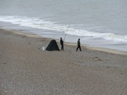 Photo of fishing on Sizewell Beach